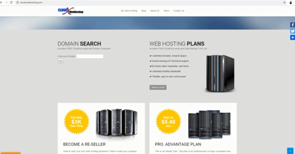 Create Web hosting Account